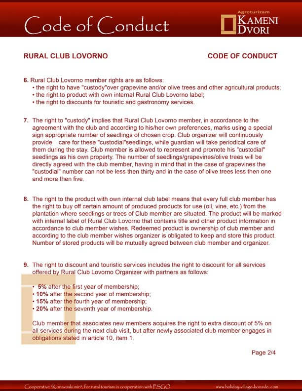 Club Code of Conduct