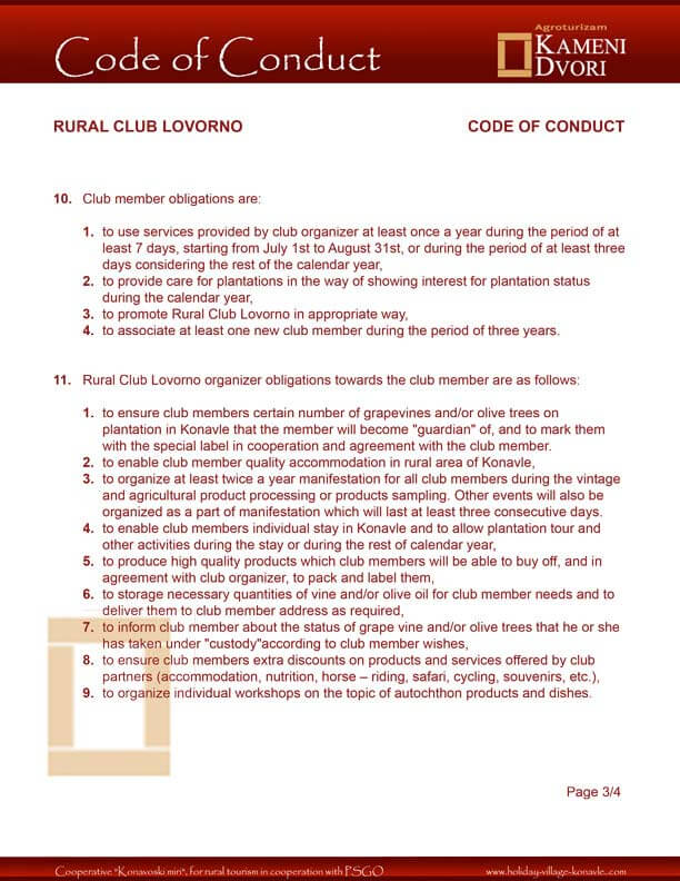 Club Code of Conduct 1
