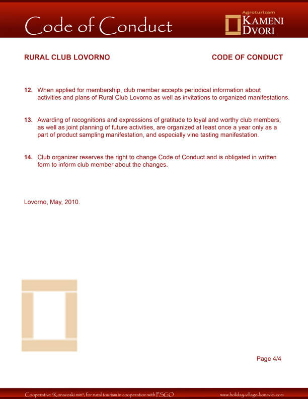 Club Code of Conduct 2
