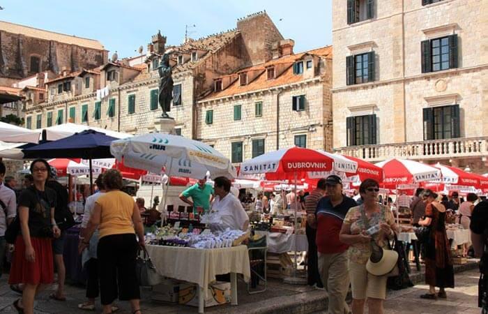 Dubrovnik old city green market