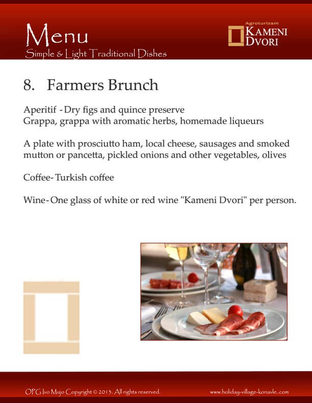 Kameni Dvori Farmers Brunch