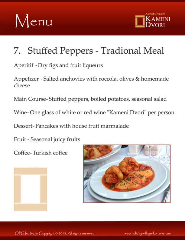 Kameni Dvori Stuffed Peppers