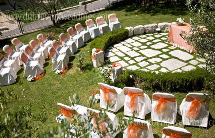 Unique Events-Weddings Garden Ceremony