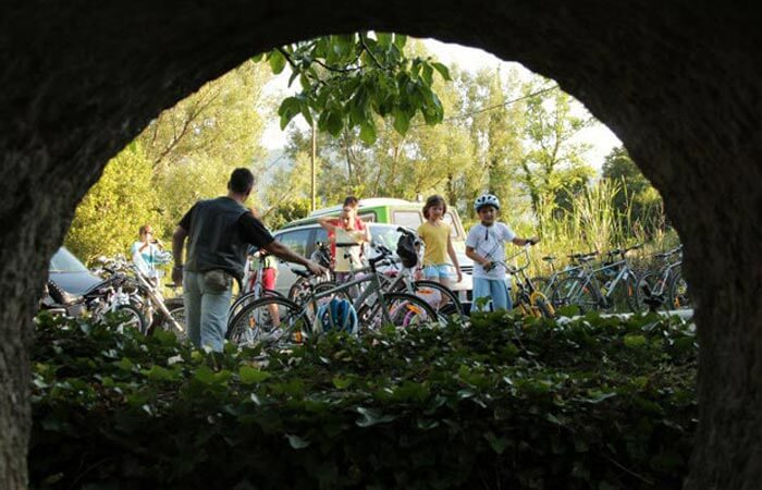 Cycling Konavle rest break