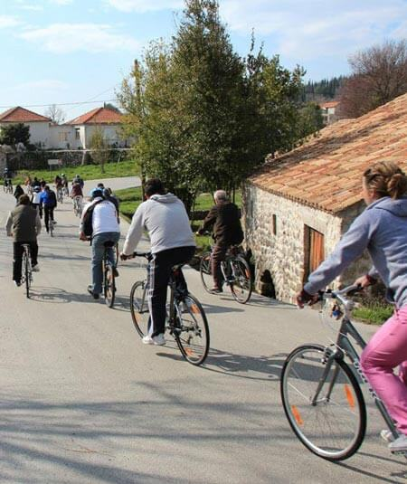 Kameni Dvori family cycling Konavle