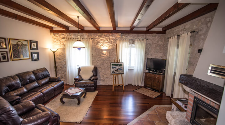 Kameni Dvori Holiday Village Dubrovnik Villa Livingroom