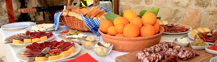 Kameni Dvori Tavern Inn with local specialities from Konavle, Dubrovnik
