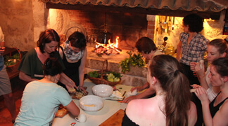 Local Cooking Classes enjoyed by Kameni Dvori guests